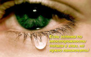Что делать, если в глаз попала зеленка