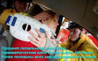 Оказание первой помощи при травматическом шоке