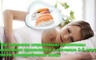 Оказание первой помощи при пищевом отравлении