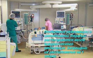Про отделение реанимации и интенсивной терапии (ОРИТ)