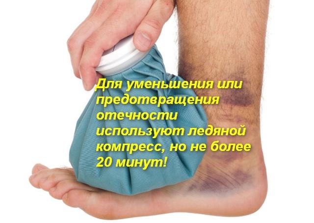 на ноге компресс